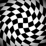 Затеняемая checkered картина с спирально эффектом искажения бесплатная иллюстрация