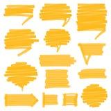 Затеняемые Highlighter элементы дизайна пузырей речи Стоковое Изображение RF