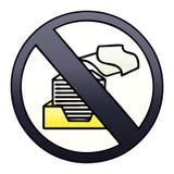 затеняемый градиентом знак запрета бумаги мультфильма бесплатная иллюстрация
