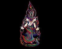 Затеняйте искусства представления puppetry от южного вызванного Таиланда Nang Talung Стоковое Фото
