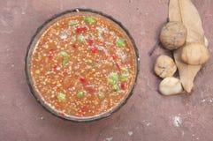 Затир креветки соуса Chili горячий Стоковое Изображение RF