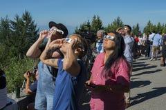 Затмение Ванкувера, август 2017 Стоковая Фотография