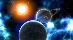 Затмение вселенной Стоковое Изображение RF