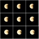 Затмение 27-ое июля 2018 луны Стоковая Фотография