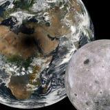 Затмение от космоса Стоковое Изображение RF