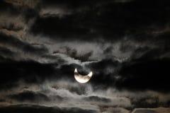 затмение солнечное Стоковые Изображения