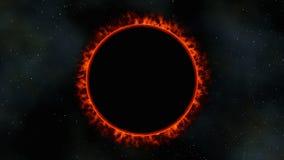 Затмение солнца красного карлика, 3d представляет Стоковые Изображения RF