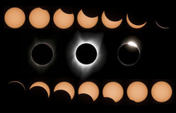 Затмение солнца Стоковые Изображения