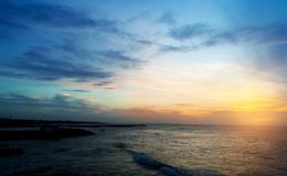 Затмите взгляд захода солнца стоковые фото