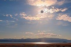 затмите ландшафт лунный Стоковое Изображение RF