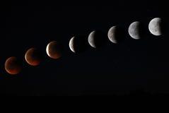 затмите лунное Стоковое Изображение RF
