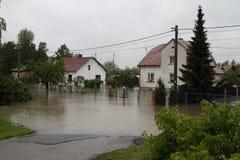 затопленная дом Стоковое Изображение RF