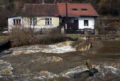 затопленная дом Стоковые Фото