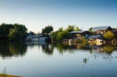 Затопленная дом Стоковое фото RF