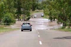 затопленная дорога Стоковые Фото