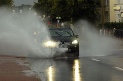 затопленная дорога Стоковое Изображение RF