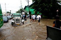 затопленная улица Стоковое Изображение RF