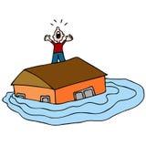 затопленная дом Стоковые Изображения RF