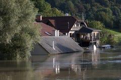 Затопленное река Стоковые Фото