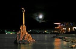 затопленные корабли памятника к Стоковое Изображение