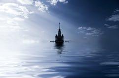 затопленный город Стоковые Изображения
