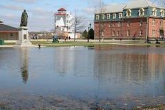 затопленный квадрат офицеров Стоковые Изображения RF