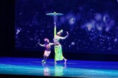 Затопчите на танца ` s детей испытания академии танца Пекина дождя сортируя выставке Цзянси достижения выдающего уча стоковое изображение rf