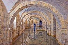 Затопленная крипта собора Винчестер, Великобритании Стоковые Фото