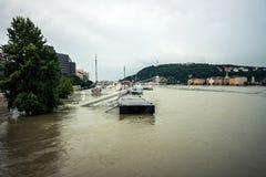 Затопленная местность в Европе a Стоковые Изображения