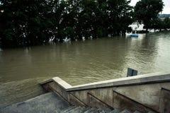 Затопленная местность в Европе a Стоковая Фотография RF