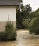 затопленная дом Стоковое Изображение
