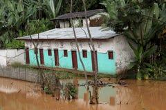 затопленная дом Стоковая Фотография
