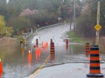 затопленная дорога Стоковая Фотография