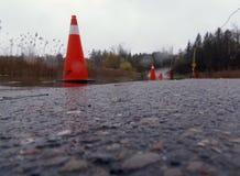 затопленная дорога Стоковые Изображения