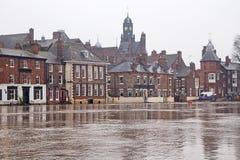 затопленные здания Стоковая Фотография RF
