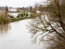 Затопленные обрабатываемые земли Стоковые Фото