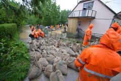 затопленные дома Стоковая Фотография RF