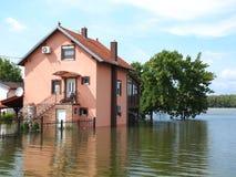 Затопленный дом Стоковое Фото