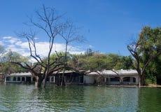 Затопленный дом стоковое изображение rf