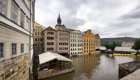 Затоплять в Праге Стоковые Изображения