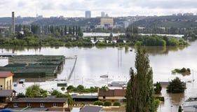 Затоплять в Праге Стоковая Фотография RF