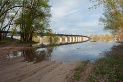 Затоплять на реке Akhtuba Стоковое Изображение