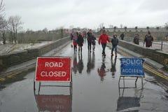 Затопляющ в Йоркшире, Англия Стоковое Фото