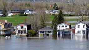 Затопляющ в Gatineau, Квебек, Канада Стоковое фото RF
