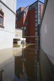 Затопляющ в Meissen, Германия Стоковые Фотографии RF