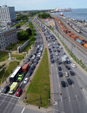 Затор движения Монреаля стоковое изображение