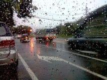 Затор движения дождя Стоковая Фотография RF