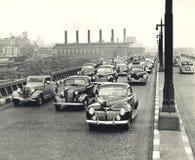 затор движения 1940s в Нью-Йорке стоковые изображения rf