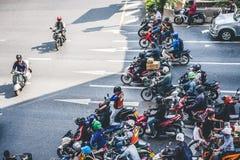 Затор движения в Бангкок Стоковое Изображение
