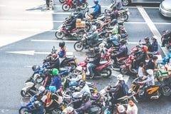 Затор движения в Бангкок Стоковое Изображение RF